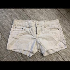 AE white denim shorts, stretch, size 10